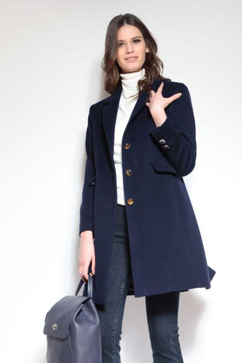 Ženski kaput od runske vune u dvije boje