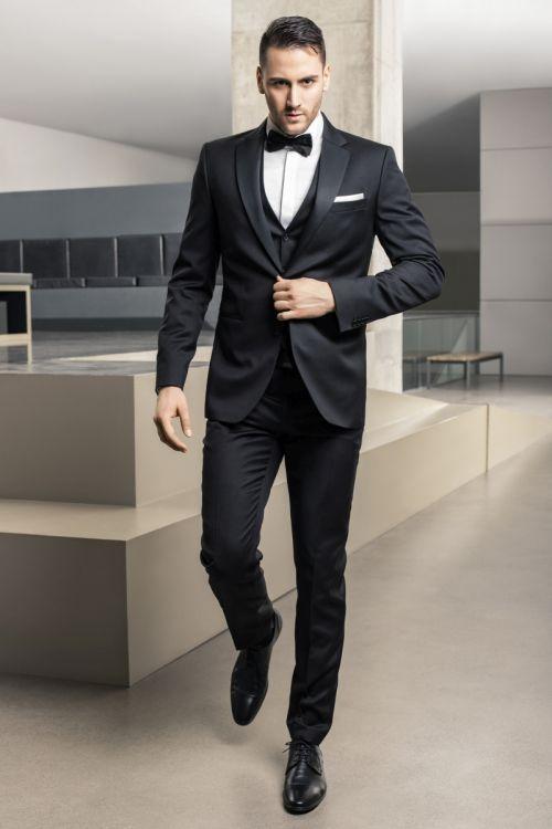 Elegantno muško odijelo s prslukom Super 100s - Regular fit