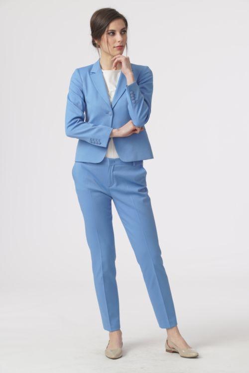 Plave poslovne ženske hlače