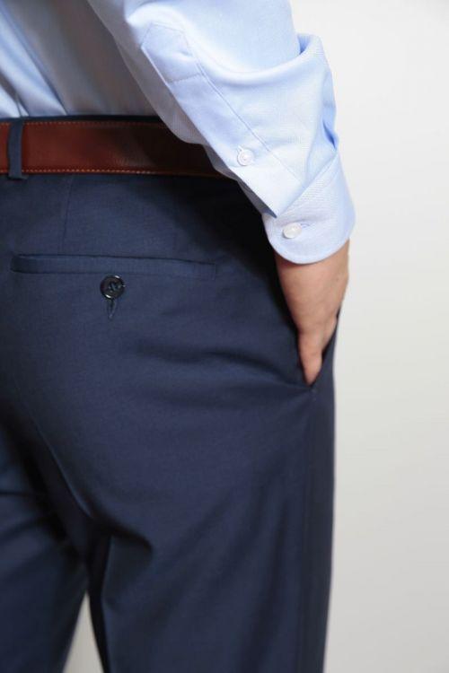 Tamno plave muške hlače 100% vuna - Regular fit