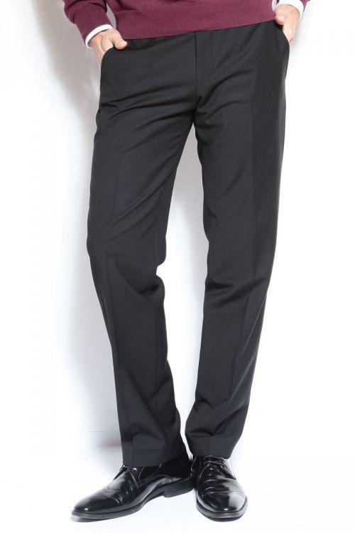 Muške crne hlače - puni stas