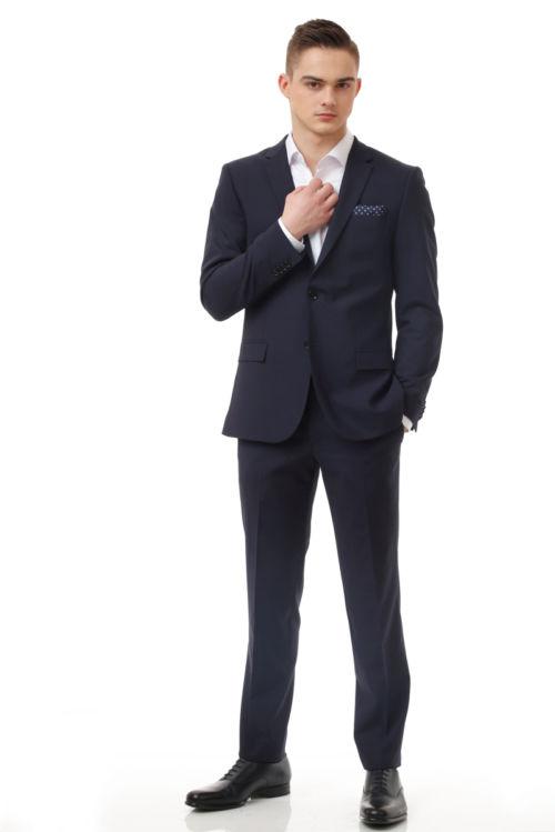 YOUNG plavo muško odijelo - Slim fit
