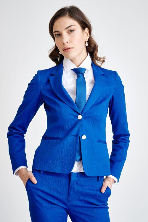 Ženski poslovni sako plave boje