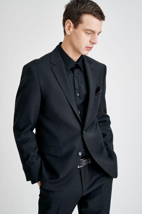 YOUNG crno muško odijelo - Regular fit