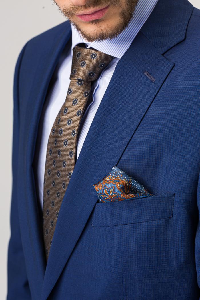 Muško odijelo otvoreno plave boje Super 100's - Comfort fit