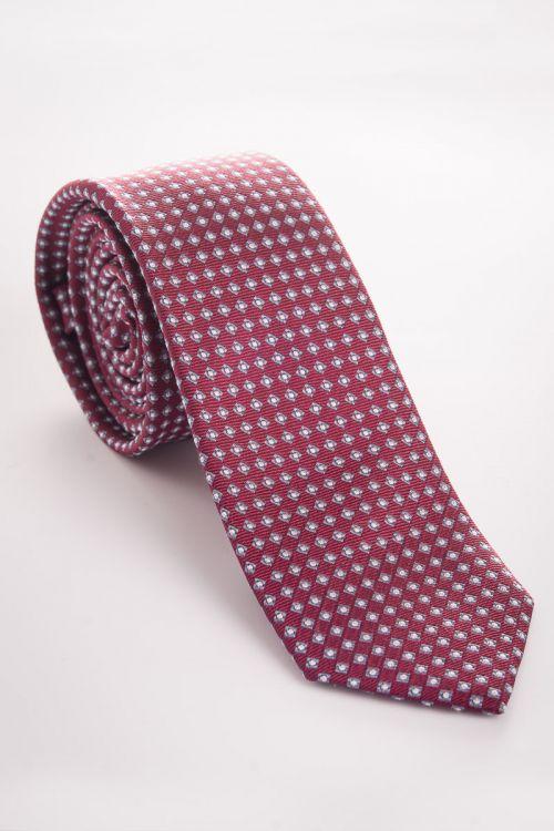 Bordo kravata sa sitnim uzorkom