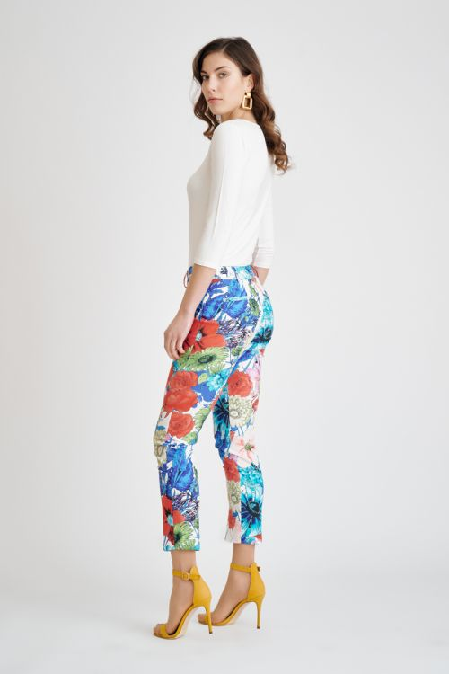 Ženske pamučne cvjetne hlače