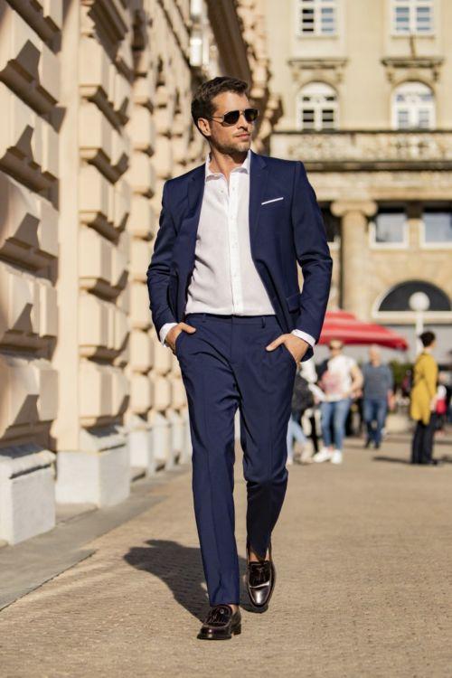 YOUNG moderno muško odijelo u tri boje - Slim fit