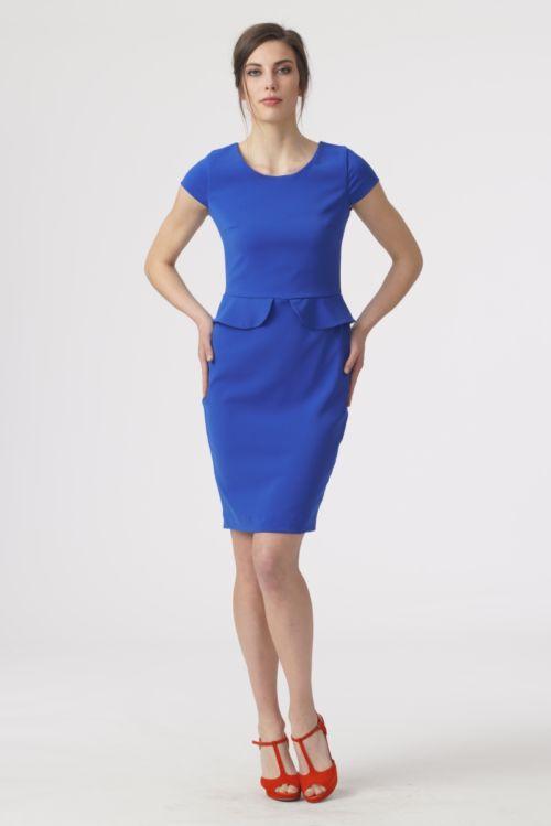 Klasična ženstvena haljina u tri boje