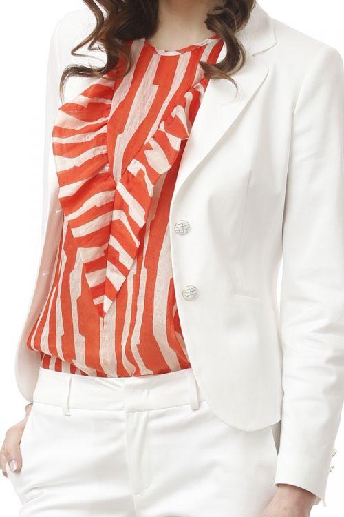 Ženski poslovni sako bijele boje