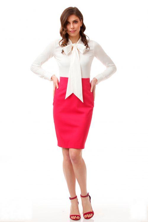Poslovna pencil suknja u dvije boje