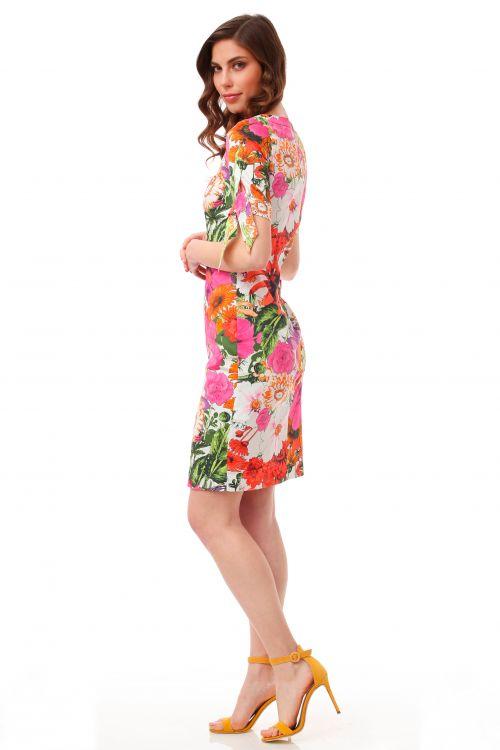 Pamučna haljina sa cvjetnim uzorkom
