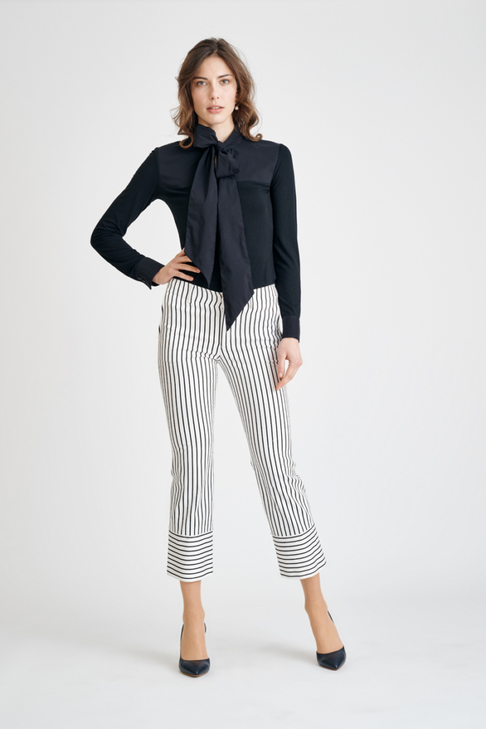 Varteks Women's trousers with a striped pattern