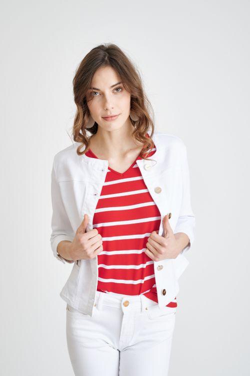 Ženska jakna bijele boje