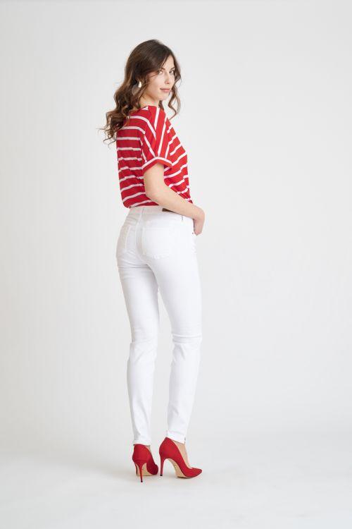 Ženske push-up hlače u bijeloj boji