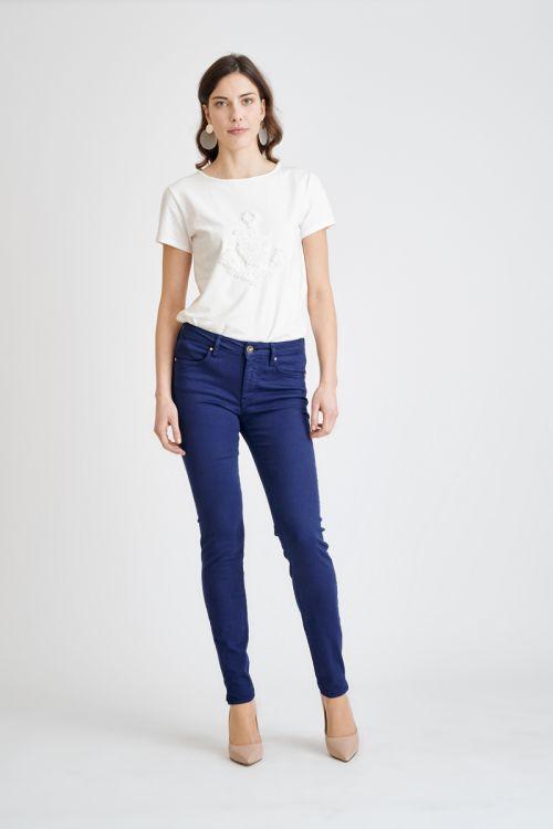 Ženske push-up hlače u plavoj boji