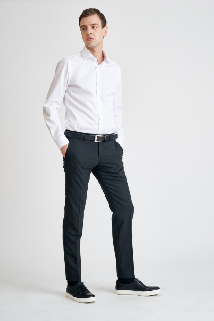 Varteks Black men's pants - Slim fit