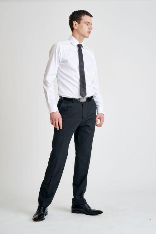 Poslovne muške hlače crne boje - Regular fit