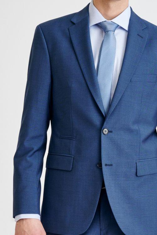 Elegantno muško odijelo plave boje sitnog dezena - Regular fit