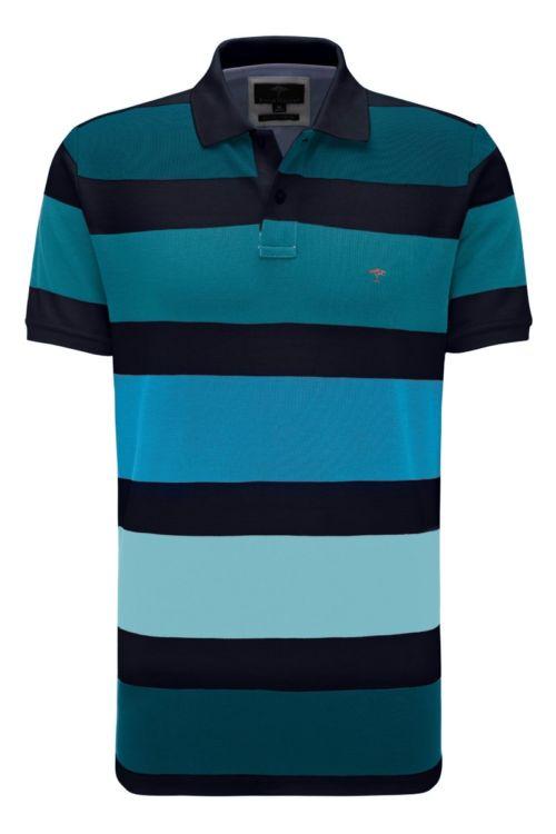 Muška polo majica s plavim prugama Fynch Hatton