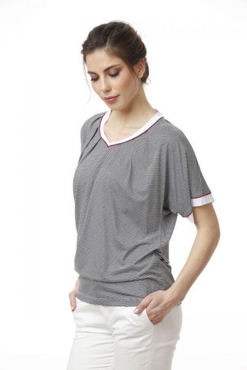 Ženska ležerna majica prugastog uzorka