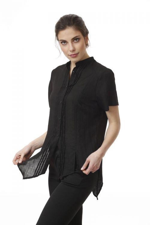 Ženska lepršava bluza u dvije klasične boje