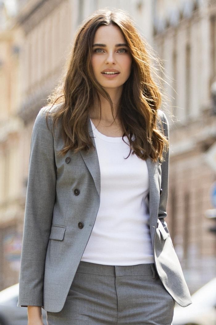 Limited Edition - Ženski poslovni sako sive boje