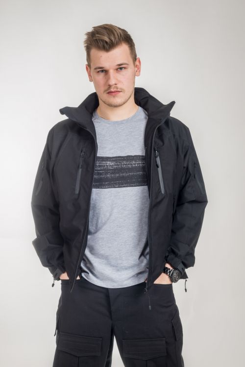 V:TEX Vodonepropusna muška jakna crne boje