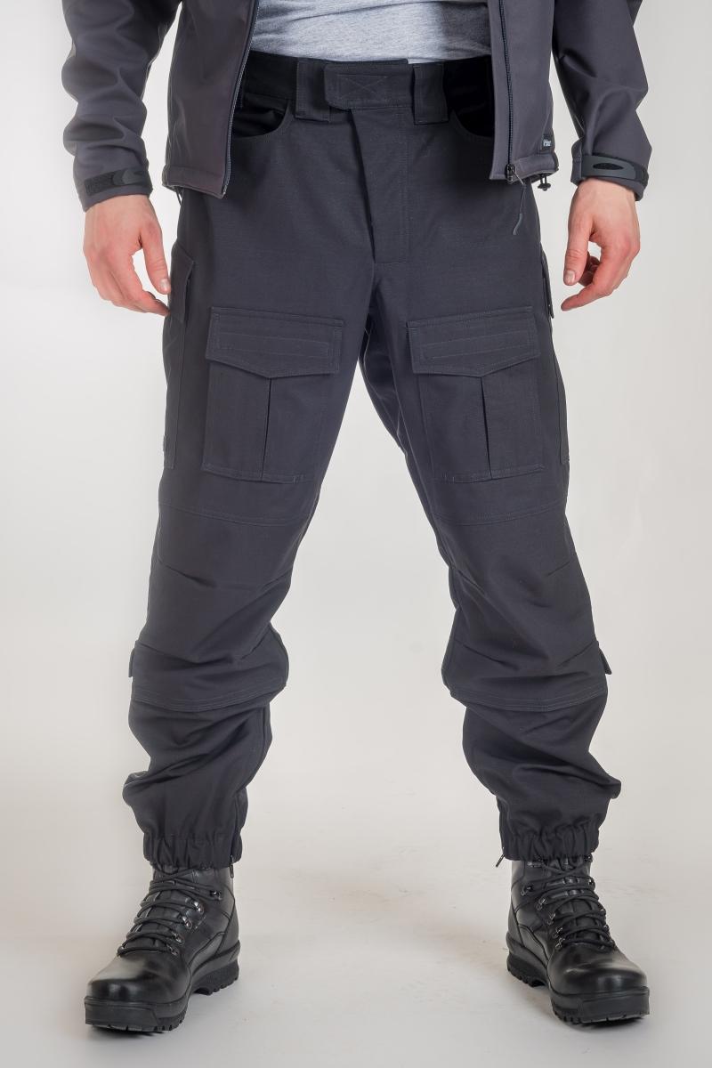 V:TEX - Crne combat hlače s džepovima