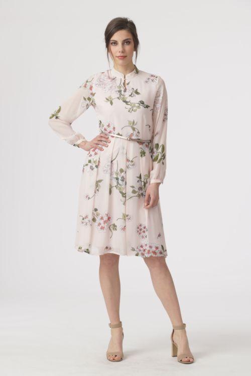 Romantična haljina dugih rukava