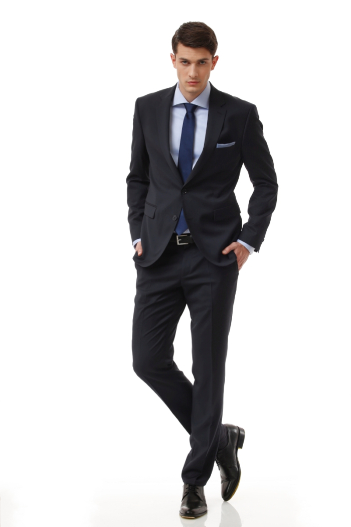 Elegantno crno odijelo - Super 120's - Regular fit