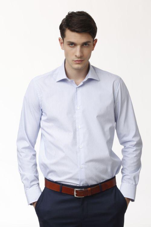 Muška pamučna košulja s decentnim prugama - NON IRON