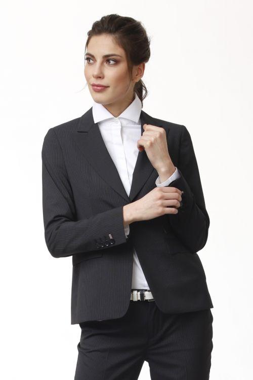 Limited Edition - Ženski tamno sivi poslovni sako