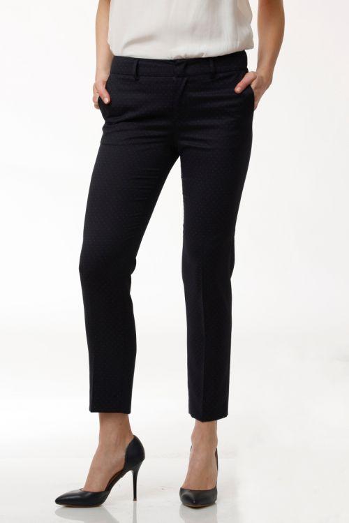 Limited Edition - Ženske tamno plave poslovne hlače