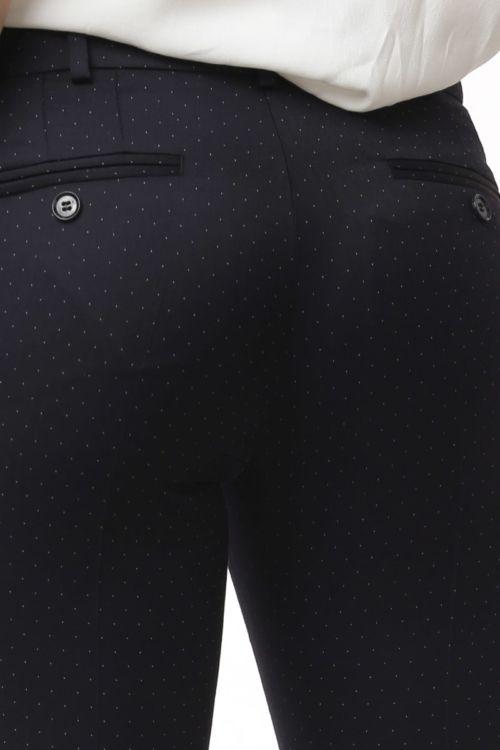 Ženske tamno plave poslovne hlače