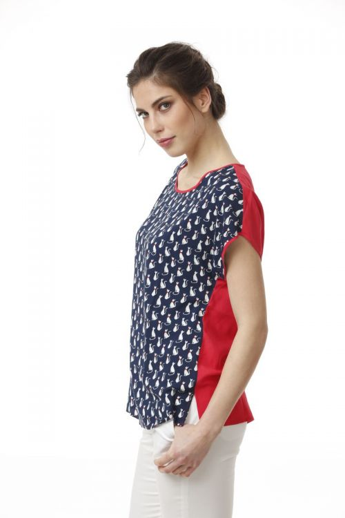Ženska tunika širokog kroja sa printom