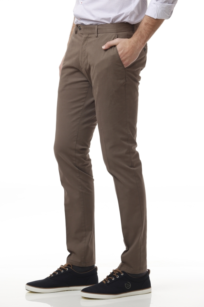 Varteks Cotton chino pants in two brown colors - Slim fit