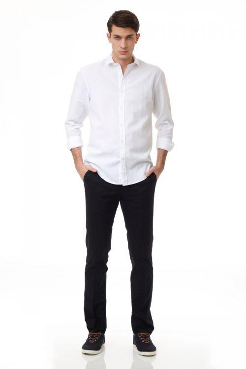 Pamučne chino hlače tamno plave boje - Regular fit