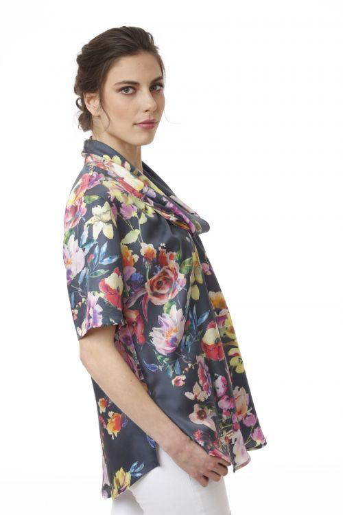 Svilena bluza cvjetnog printa u dvije boje