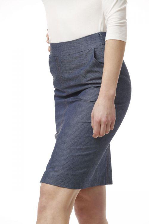 Poslovna siva pencil suknja sa strukturom