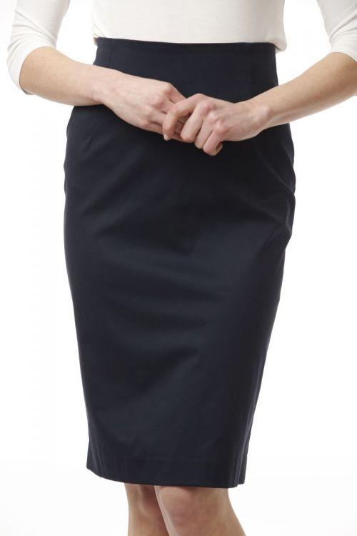 Ženska tamno plava pencil suknja