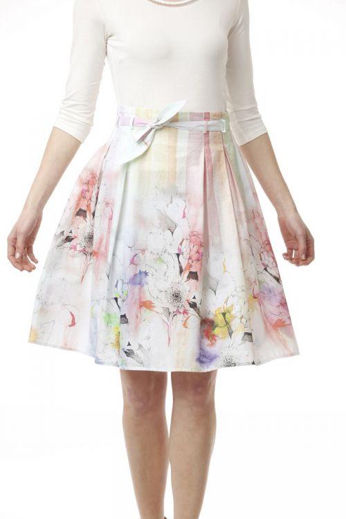 Pamučna romantična suknja cvjetnog uzorka