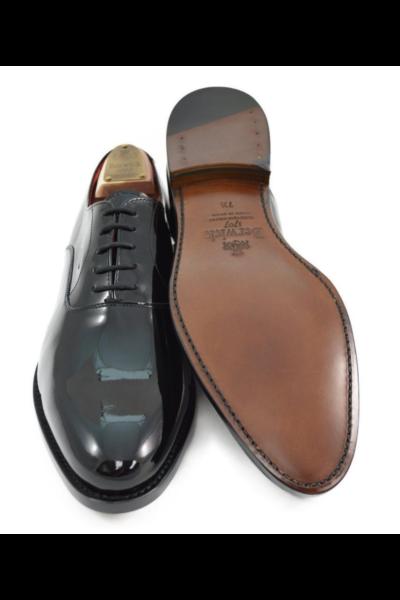 Lakirane muške kožne cipele Oxford uzorka - Berwick