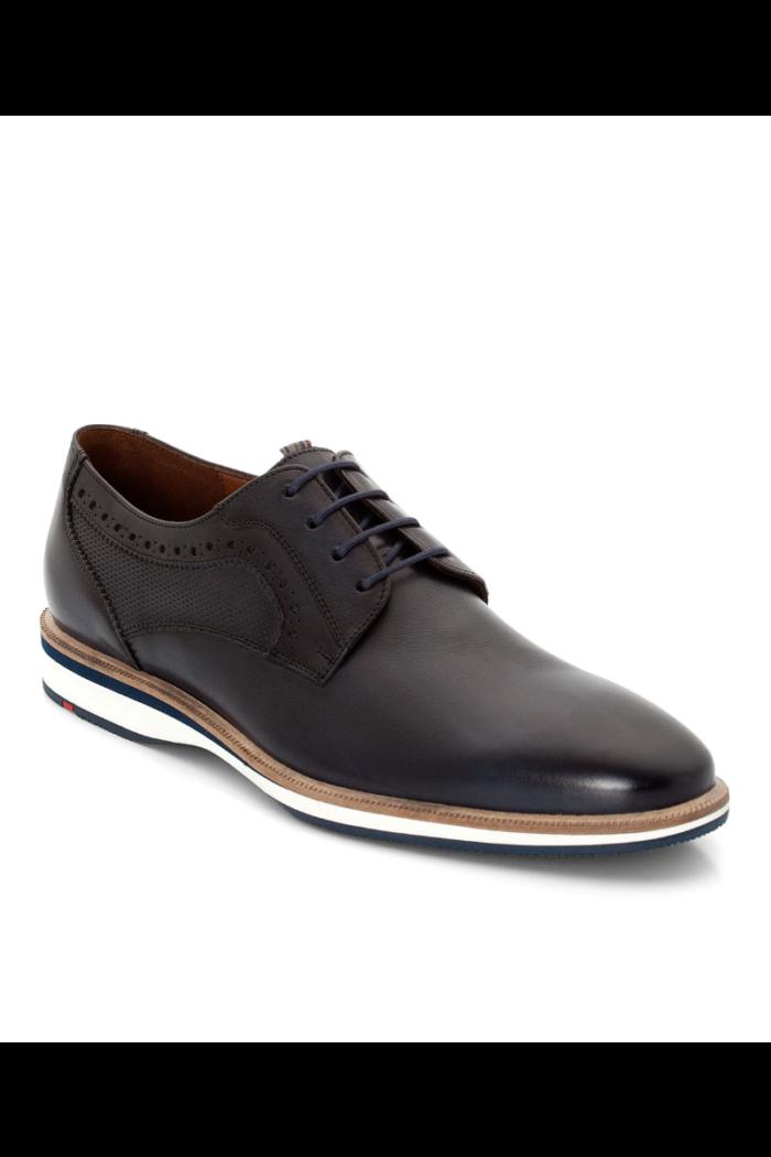 Tamno plave kožne cipele s detaljem - Lloyd