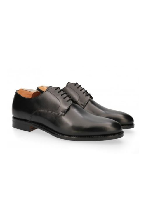 Kožne muške cipele Oxford uzorka crne boje - Berwick