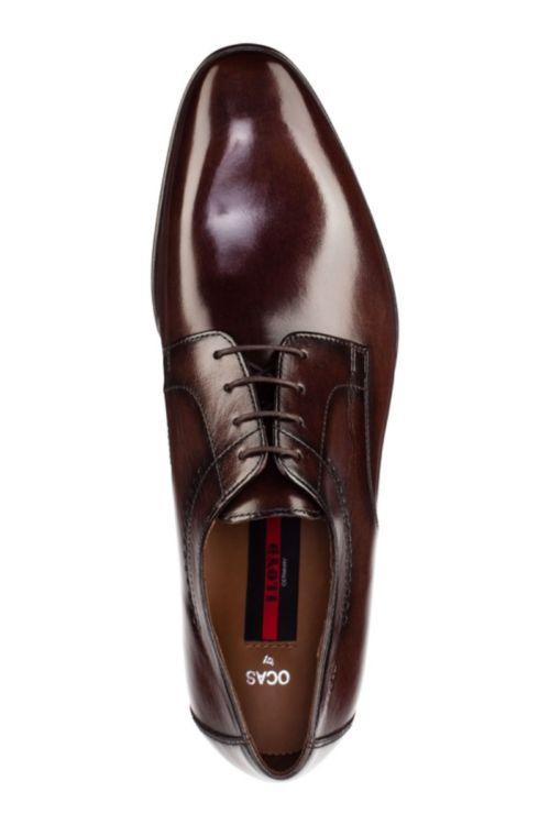 Muške smeđe cipele sa svilenkastim sjajem - Lloyd