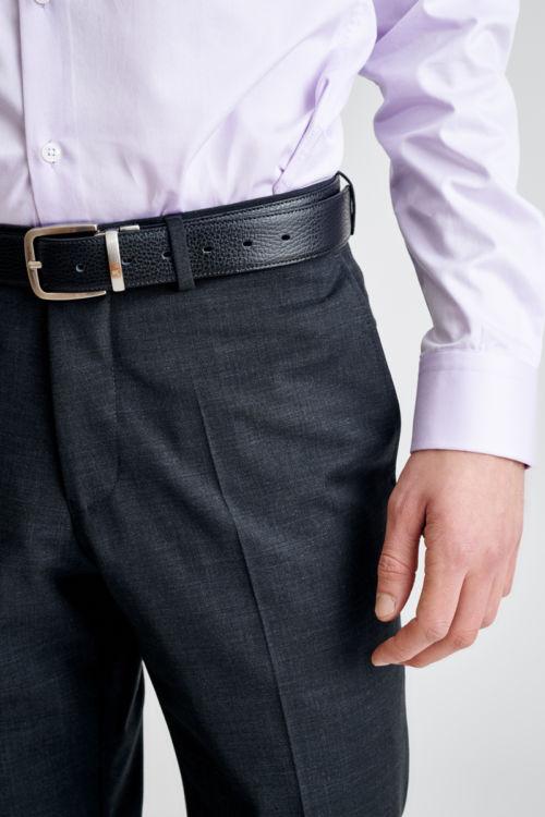Muške hlače antracit sive boje sa strukturom - Comfort fit