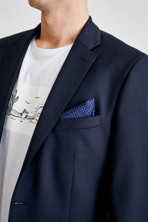 Tamno plavi sako s decentnim detaljima - Regular fit