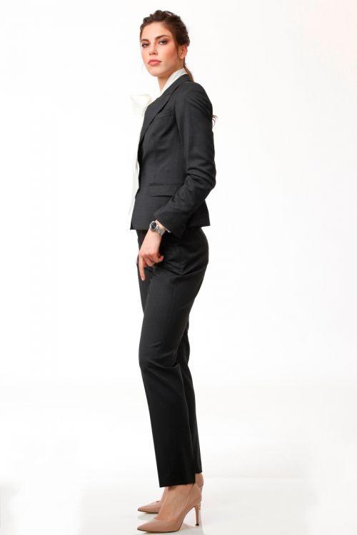 Ženske poslovne hlače tamno plave boje
