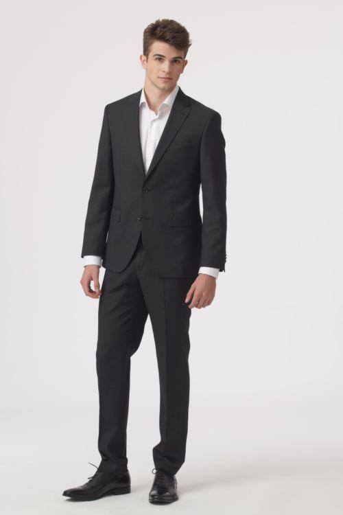 YOUNG Muško odijelo tamno sive boje - Regular fit